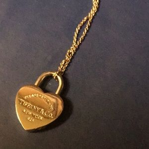Tiffany & Co. Jewelry - Tiffany & Co. Sterling Silver Padlock Necklace